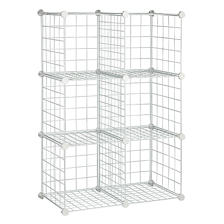Honey-Can-Do Modular Mesh Storage Cubes, Extra Large Size, Pack Of 6
