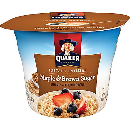 Quaker® Express Oatmeal Cups, Brown Sugar, 1.69 Oz, Pack Of 24