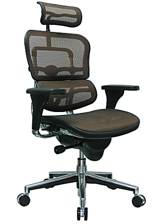 Raynor® Ergohuman High-Back Ergonomic Mesh Chair, Orange/Chrome