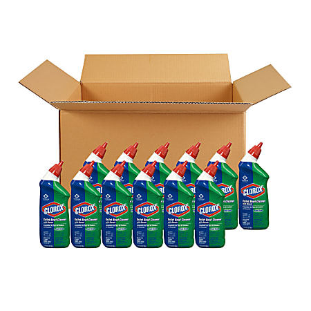 Clorox® Bleach Toilet Bowl Cleaner, 24 Oz Bottle, Case Of 12