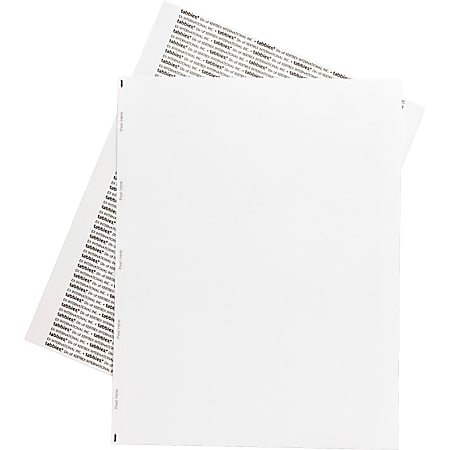 Tabbies® Permanent Transcription Label Sheets, Unruled, 59533, White, Box Of 100