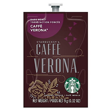 Starbucks® Single-Serve Coffee Freshpacks, Dark Roast, Caffé Verona, Carton Of 80