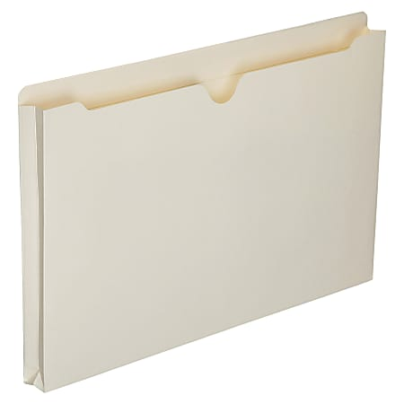 "SKILCRAFT® Manila Double-Ply Tab Expanding File Jackets, 1"" Expansion, Legal Size Paper, 8 1/2"" x 14"", 30% Recycled, Box Of 50"