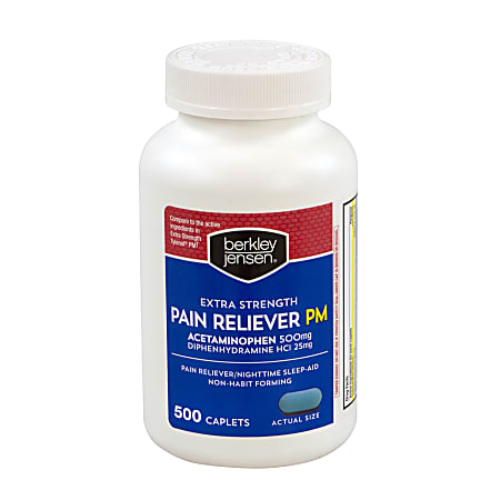Berkley & Jensen Extra-Strength Pain Reliever PM, Pack Of 500