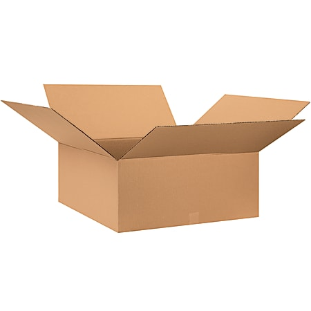 """Office Depot® Brand Corrugated Boxes, 10""""H x 28""""W x 28""""D, 15% Recycled, Kraft, Bundle Of 10"""