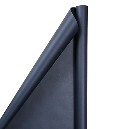 JAM Paper® Wrapping Paper, Matte, 25 Sq Ft, Cobalt Blue