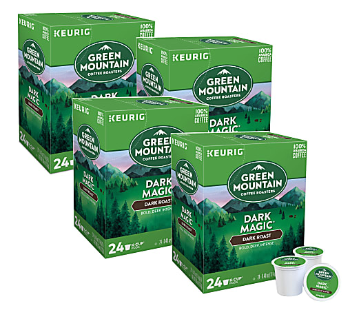 Green Mountain Coffee® Single-Serve Coffee K-Cup®, Dark Magic Extra-Bold, 24 Per Box, Carton Of 4 Boxes