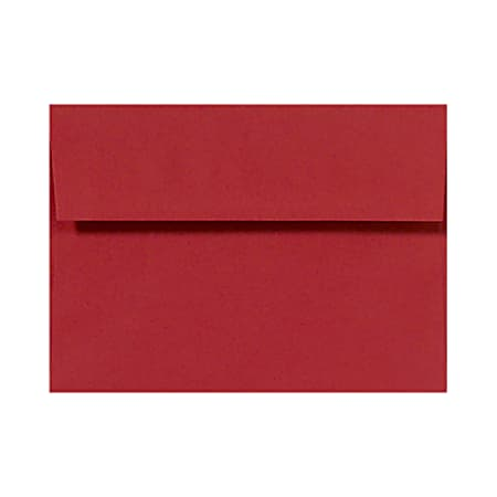 LUX Invitation Envelopes, A2, Peel & Press Closure, Ruby Red, Pack Of 50