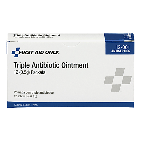 """First Aid Only™ BZK Antiseptic Towelettes, 2"""" x 2"""", White, Box Of 10"""