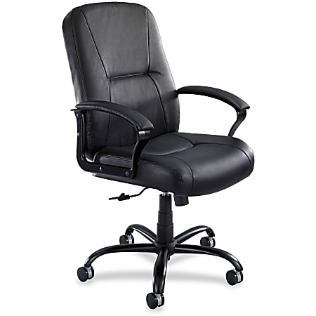 Safco® Serenity Big And Tall Ergonomic Bonded Leather Chair, Black