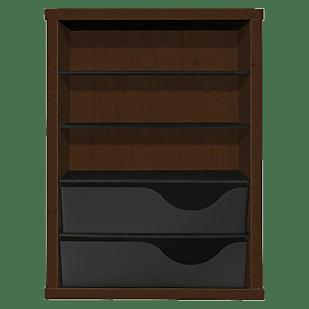 HON Vertical Paper Manager - 3 Compartment(s) - 2 Drawer(s) - Desktop - 40% - Mocha - 1 Each