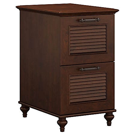 """kathy ireland® Home by Bush Business Furniture Volcano Dusk 23-1/5""""D Vertical 2-Drawer File Cabinet, Coastal Cherry, Standard Delivery"""