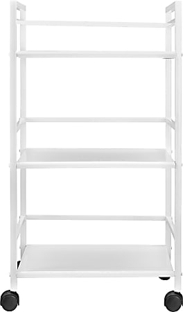 Ameriwood™ Home Marshall 3-Shelf Metal Rolling Utility Cart, White