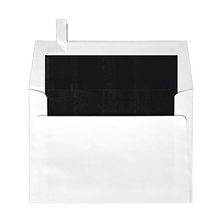 "LUX Square Envelopes, 6 1/2"" x 6 1/2"", Self-Adhesive, Black/White, Pack Of 500"