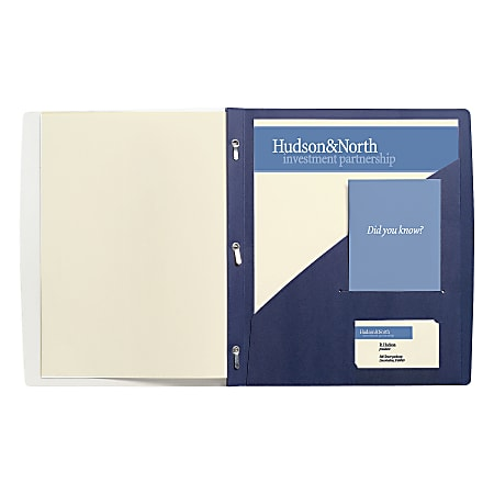 """GBC® Frosted Front Report Cover, 11 1/2"""" x 9 1/2"""", Dark Blue, Pack Of 5"""