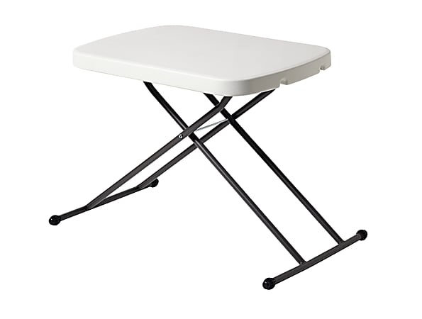 Realspace® Personal Folding Table, Platinum