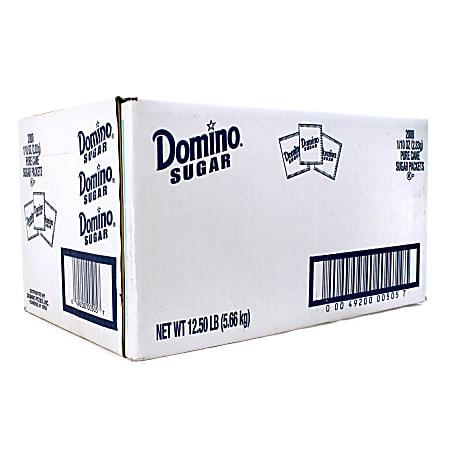 Domino Sugar Packets, Box Of 2,000 Packets