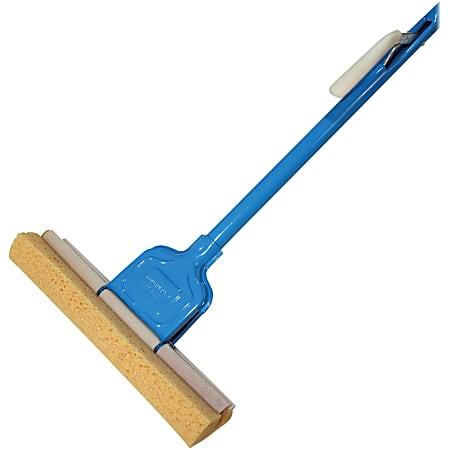 "Genuine Joe Roller Sponge Mop - 12"" Head - Absorbent, Durable - 1 Each - Blue"