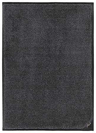 "M + A Matting Colorstar Plush Floor Mat, 36"" x 120"", Midnight Gray"