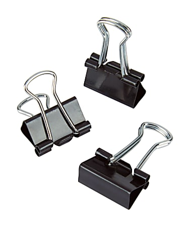 """Office Depot® Brand Binder Clips, Mini, 9/16"""" Wide, 1/4"""" Capacity, Black, Pack Of 60"""