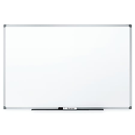"Quartet® Melamine Dry-Erase Whiteboard, 24"" x 36"", Aluminum Frame With Silver Finish"