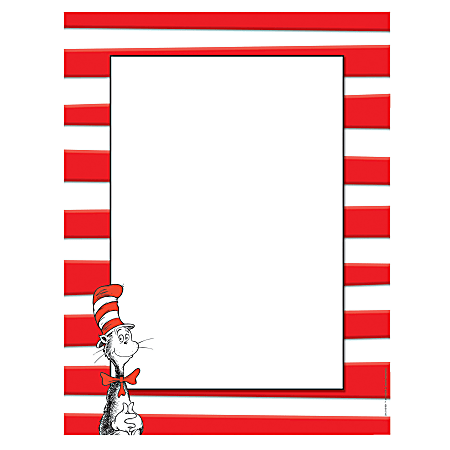 "Eureka® Dr. Seuss™ The Cat In The Hat™ Computer Paper, Letter Size (8 1/2"" x 11""), 24 Lb, Multicolor, 50 Sheets Per Ream, Case Of 6 Reams"