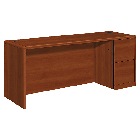 HON® 10700 Series Laminate Right Pedestal Credenza, Cognac