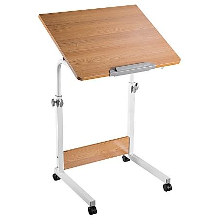 """Mount-It MI-8020 23""""W Rolling Computer Desk, Brown"""