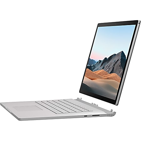 """Microsoft Surface Book 3 15"""" Touchscreen 2 in 1 Notebook - 3240 x 2160 - Intel Core i7 i7-1065G7 Quad-core 1.30 GHz - 16 GB RAM - 256 GB SSD - Silver - Windows 10 Pro - NVIDIA GeForce GTX 1660 Ti Max-Q with 6 GB - PixelSense - 17.50 Hour Battery"""