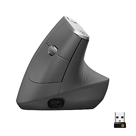 Logitech® MX Wireless Vertical Mouse, Black, 910-005447