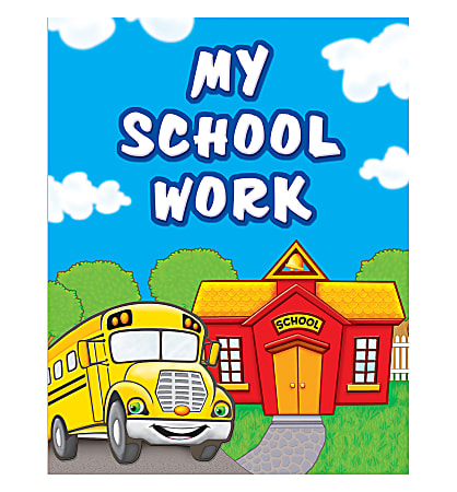 """Teacher Created Resources My School Work Pocket Folders, 9 1/2"""" x 12"""", Multicolored, Pack Of 10"""