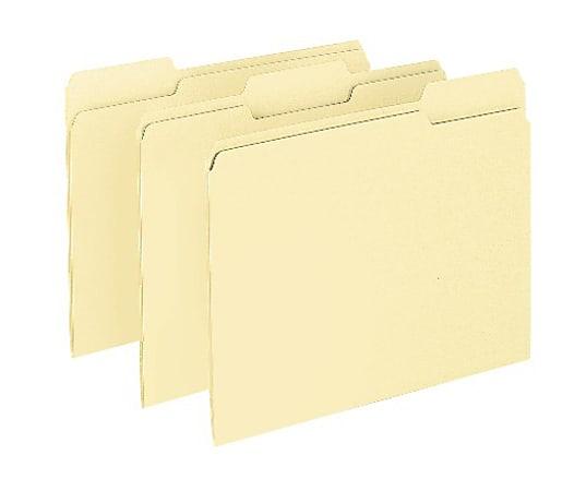 Pendaflex® CutLess WaterShed File Folders, 1/3 Cut, Letter, 100 Folder Per Box, Manila