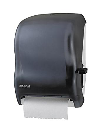 "San Jamar Lever-action Jam-resistant Towel Dispenser - Roll Dispenser - Roll - 16.5"" Height x 12.9"" Width x 9.5"" Depth - Plastic - Black Pearl - Durable, Long Lasting, Break Resistant, Lockable, Chemical Resistant, Jam Resistant"