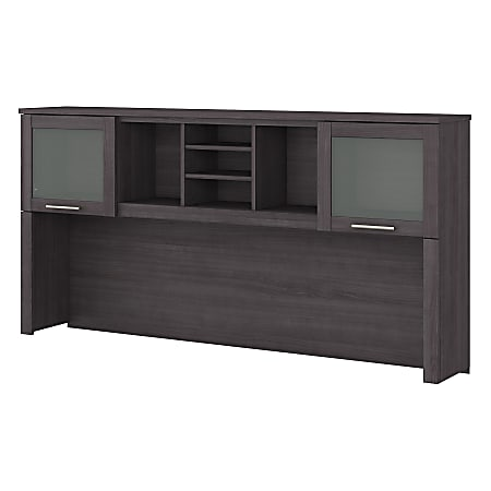 "Bush Furniture Somerset 72""W Hutch For L-Shaped Desk, Storm Gray, Standard Delivery"