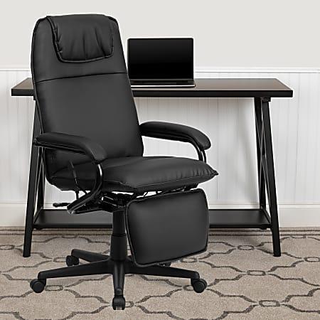 Flash Furniture Ergonomic Bonded LeatherSoft™ High-Back Reclining Swivel Chair, Black