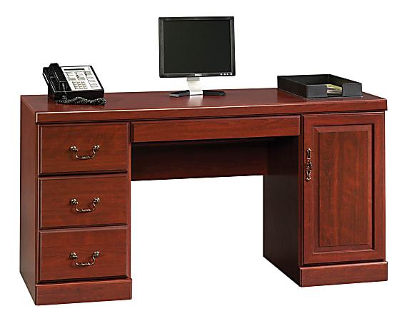 """Sauder® Heritage Hill 60""""W Desk Computer Credenza, Classic Cherry"""