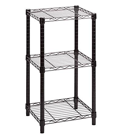 Honey-Can-Do Urban Steel Adjustable Storage Shelving Unit, 3-Tiers, Black