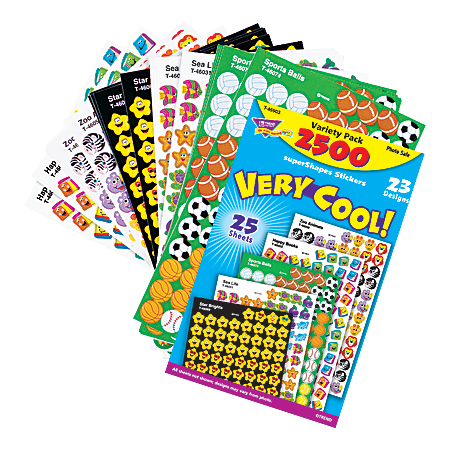 TREND Very Cool Stickers, Pack Of 2,200