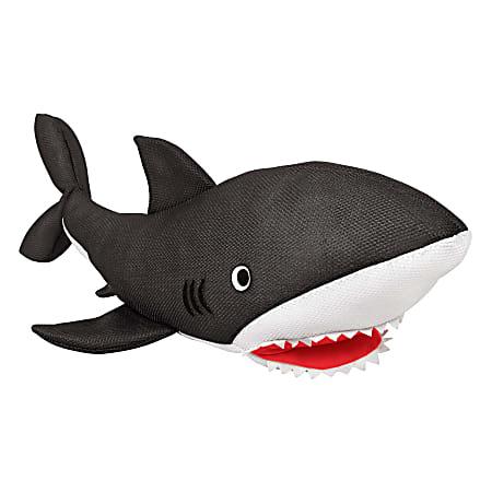 "Amscan Floating Shark Pool Toy, 9""H x 16""W x 33""D, Black"