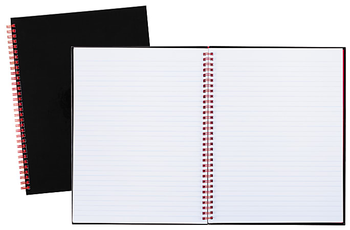 """Black n' Red® Business Notebook, 8 1/2"""" x 11"""", 1 Subject, Legal Ruled, 70 Sheets, Black/Red"""
