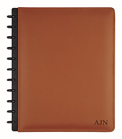 "TUL™ Personalized Custom Note-Taking System Discbound Letter-Size Notebook, 8 1/2"" x 11"", Brown"