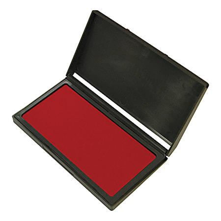 "Office Depot® Brand Gel Stamp Pad, 3 5/8"" x 6 3/8"", Red"