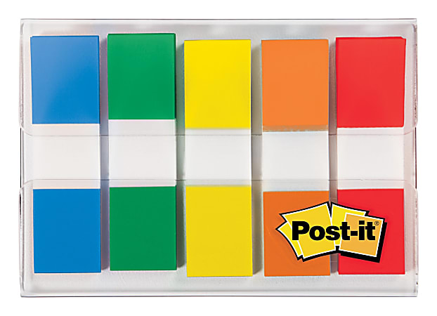 Post-it® Notes Mini Flags With Dispenser, 20 Flags Per Pad, Pack Of 5 Pads