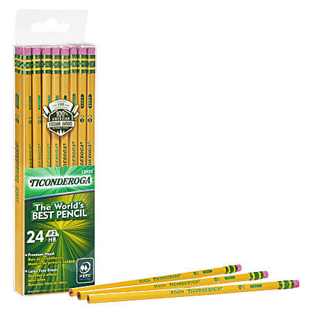 Ticonderoga® Pencils, #2 Lead, Medium Soft, Pack of 24