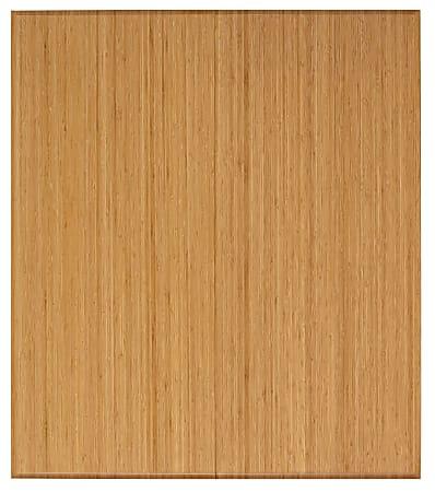 """Anji Mountain Trifold Bamboo Chair Mat, Rectangular, 42"""" x 48"""", Natural"""