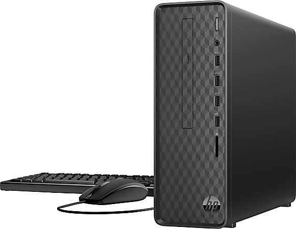 HP Slim S01-aF1006 Desktop PC, Intel® Pentium® Silver, 8GB Memory, 256GB Solid State Drive, Windows® 10, 1K0E2AA#ABA