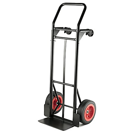 """Global Hardlines® Convertible Hand Truck, 500-600 Lb Capacity, 47 1/5""""H x 20 2/5""""W x 16 4/5""""D, Black/Red"""