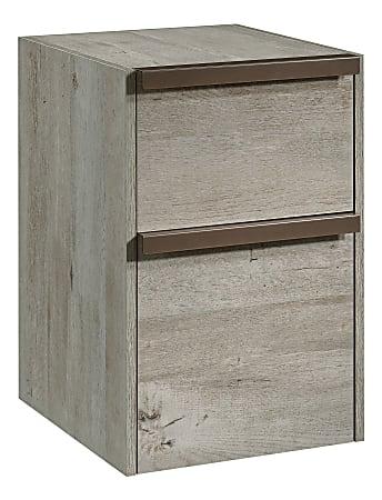 "Sauder® Manhattan Gate 18""D Vertical 2-Drawer Mobile File Cabinet, Mystic Oak"