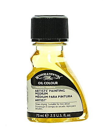 Winsor & Newton Artists' Oil Painting Mediums, 75 mL, Yellow, Pack Of 2
