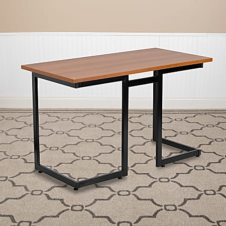 Flash Furniture Contemporary Laminate Computer Desk, Cherry/Black